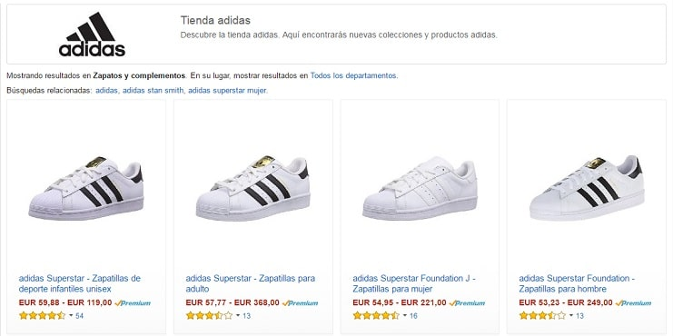 new product a6841 00e3d adidas-baratas-amazon
