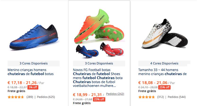 3fff5b1ca3 Chuteiras no AliExpress (Nike
