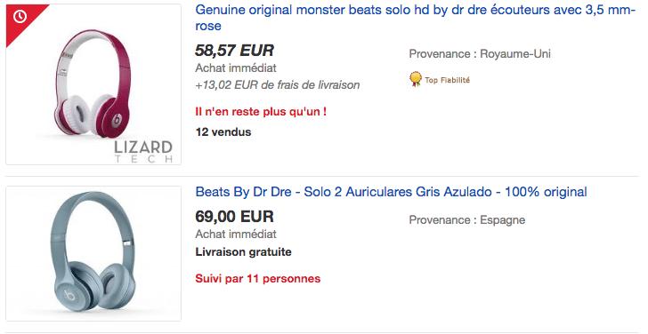 ebay beats FR