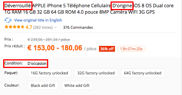 iphone FRA