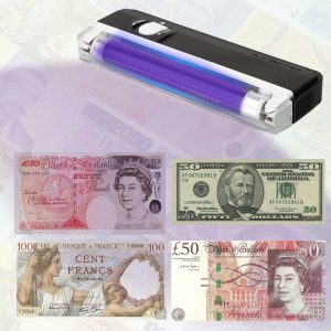 Portable UV Light Bill Currency Detector Money Test Lamp Dollar Jewelry Checker