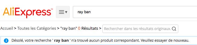 no rayban fr