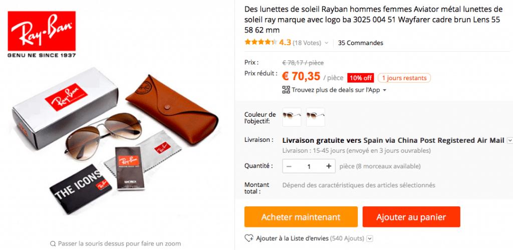 acheter des ray ban aux usa louisiana bucket brigade. Black Bedroom Furniture Sets. Home Design Ideas