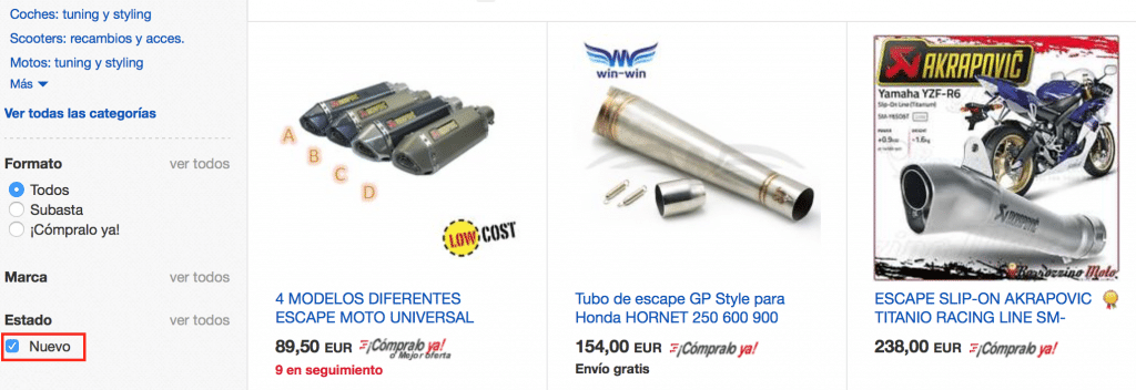 tubos de escape baratos para scooters, motos, coches tuning en aliexpress ebay y amazon