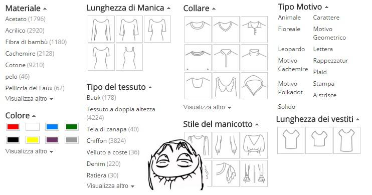 ricerca selettiva vestiti donna aliexpress