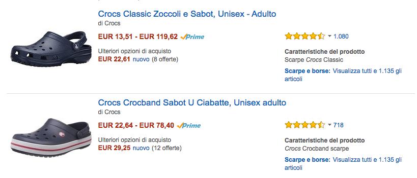 Crocs Amazon IT