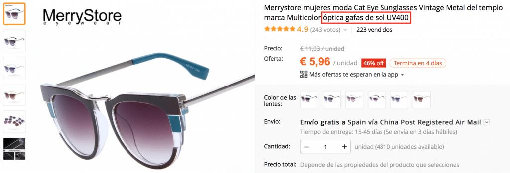 Gafas de sol estilo dior baratas en AliExpress de buena calidad