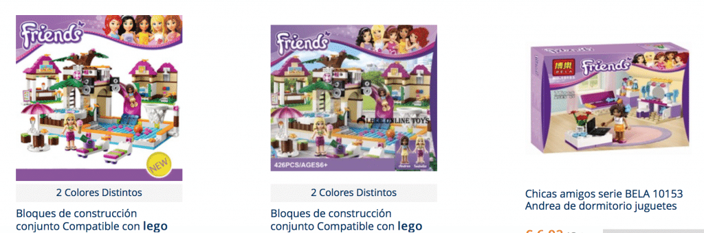 Lego firends baratos en aliexpress
