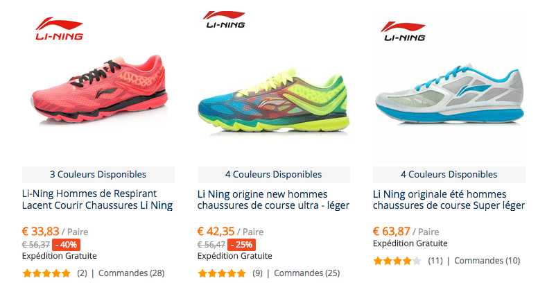 Li ning shoes FRA