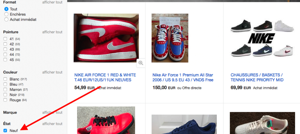 ebay force fr