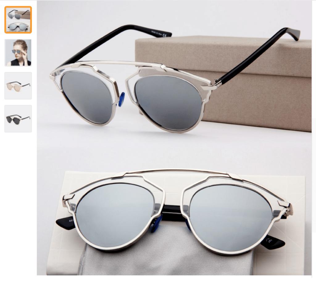 gafas estilo So Real en aliexpress baratas y de buena calidad