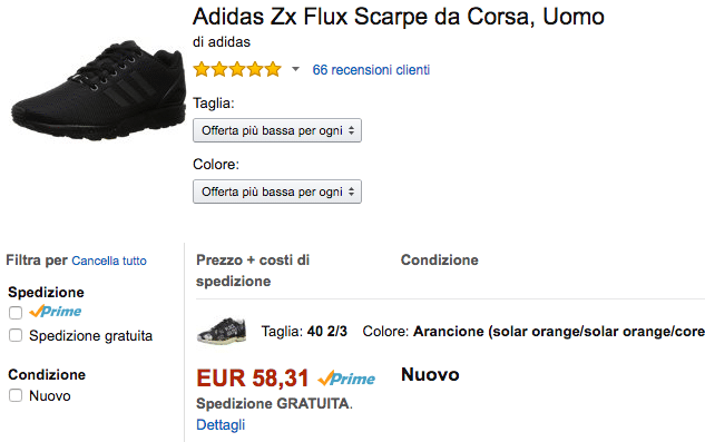 lowest offer adidas flux amazon IT