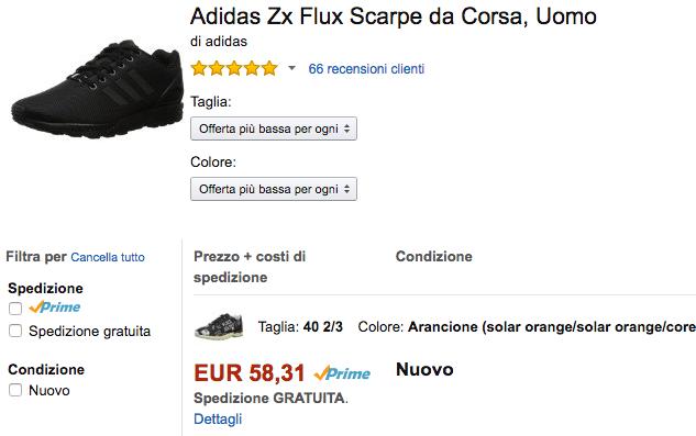 lowest offer adidas flux amazon IT