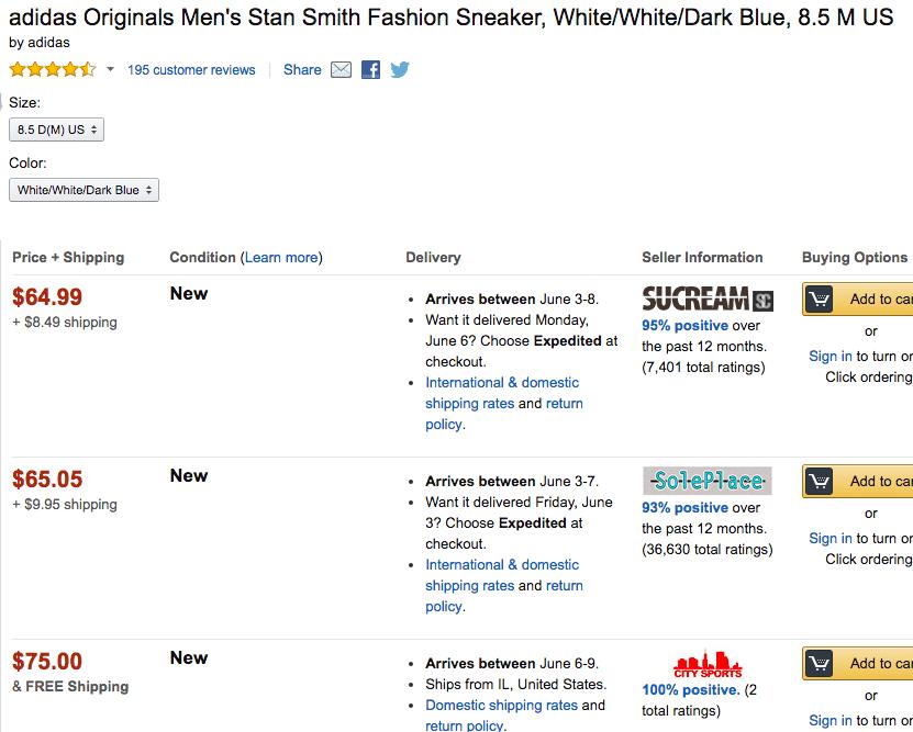 Amazon stan smti buying