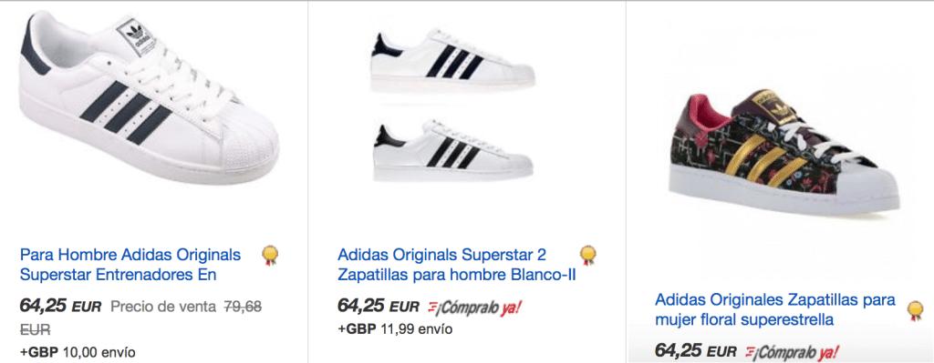 Ebay adidas super star baratas