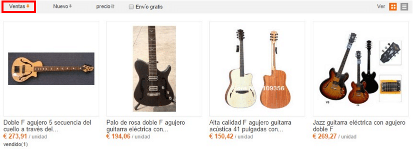 Guitarras Fender baratas en AliExpress