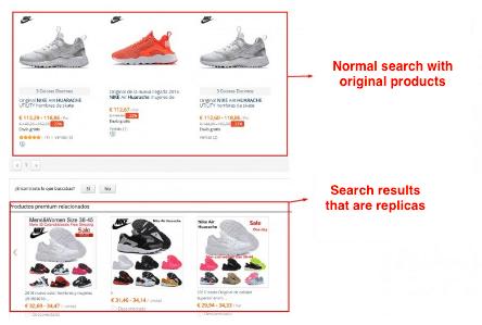 Normal vs replica results NIKE