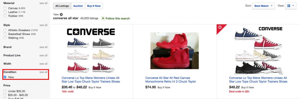 ebay converse PT