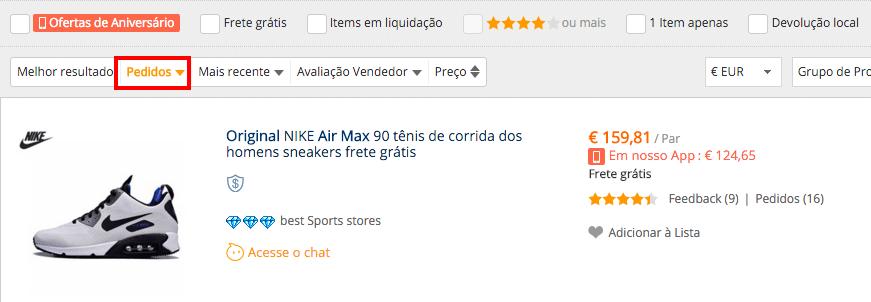 nike air max pedidos