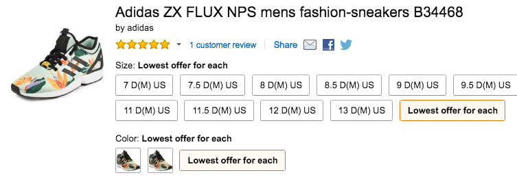 Amazon adidas lowest offer