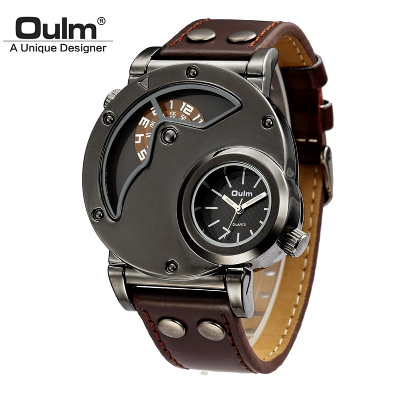 ef8694eb816 The Oulm brand watches have sporty style very similar to those made by  Diesel. With a very tight price