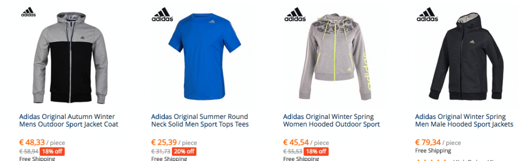 Adidas sweatshirt aliexpress prices