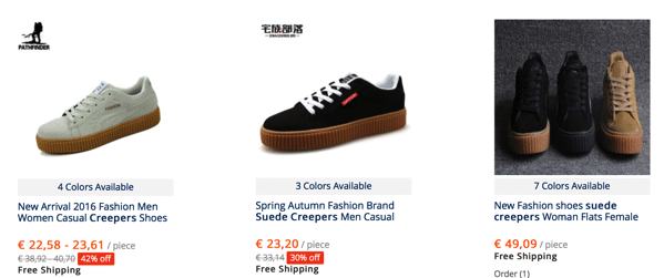Cheap Puma Creeper Alternatives in AliExpress