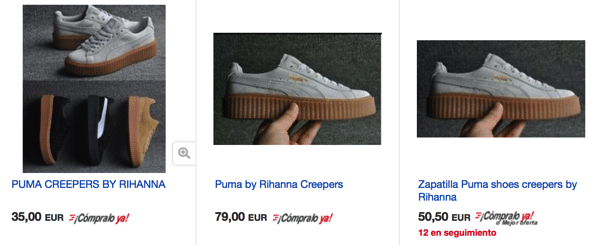 Cheap Puma Creepers in eBay