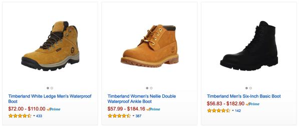Cheap Timberland boots in AliExpress