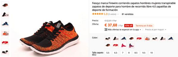 Cheap chinese Nike free flyknit