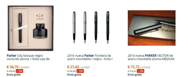 Cheap parker foutain pens in AliExpress