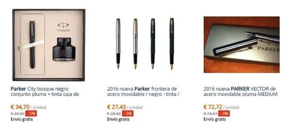 Cheap parker foutain pens in AliExpress