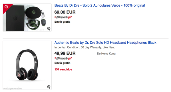 Headphones dr dre beats scontati en ebay mejor que aliexpress
