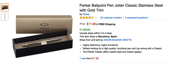 Parker Pen in Amazon for sale