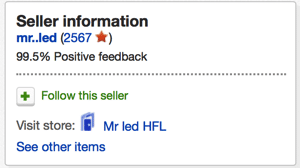 Seller information and reputation on ebay be a mart shopper