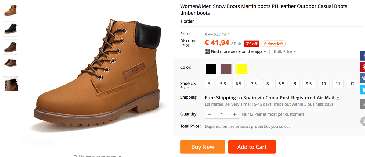 Guide and Tricks to finding Timberland on AliExpress