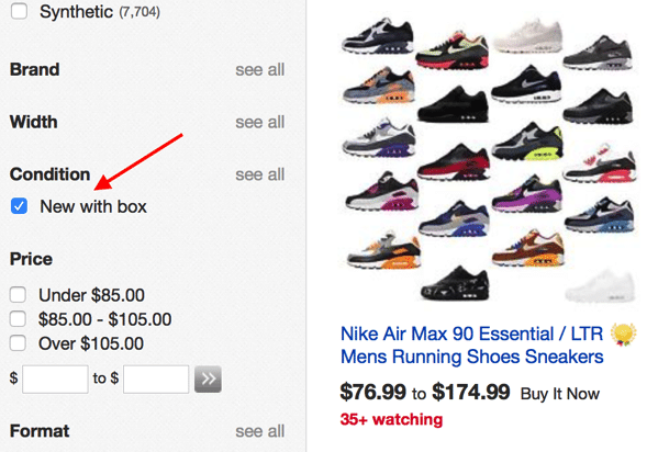 Buying nike air max in ebay
