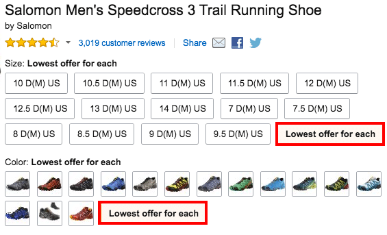 lowest salomon amazon