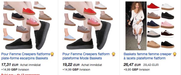 Puma creepers ebay FR
