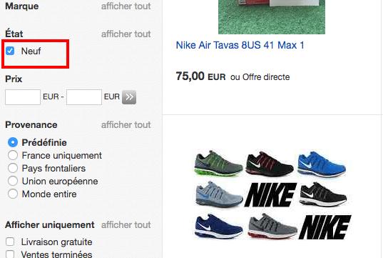 ebay nike air max FR