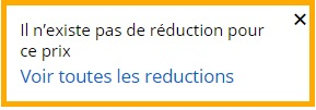 Ne pas de reduction