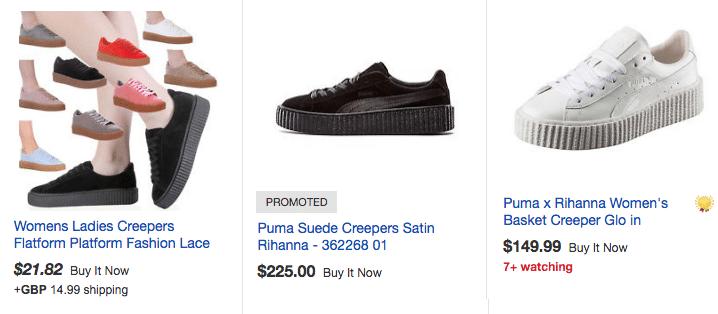 precios pt creepers