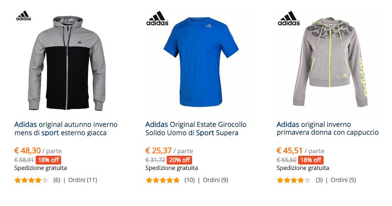 prezzo felpi adidas IT