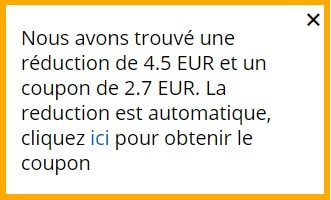 Reduction et coupon aliexpress