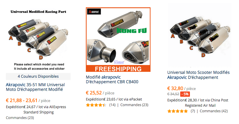Akrapovic pipes FRA