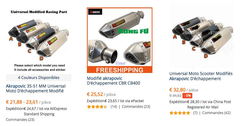 Akrapovic pipes FRA