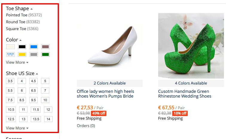 Shoes high heel filter ENG