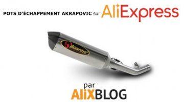 Guide d'achat de pots d'échappement Akrapovic et autres marques sur AliExpress