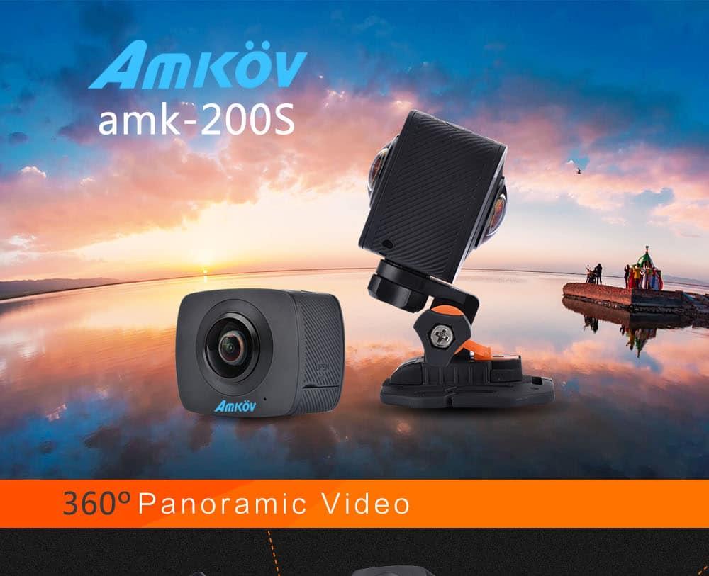 AMKOV-360-Video-Camera-objetivo dual-360-360-Degree-Panorama-Camera-HD-WiFi-Sport-Camara-Accion
