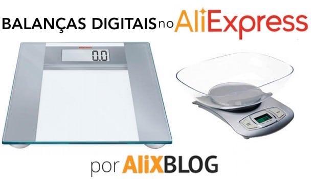 Balancais digitais no AliExpress